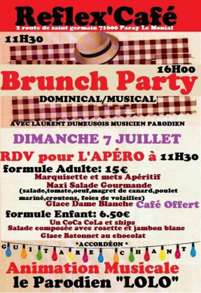 Brunch Party - Reflex'Café (2 route de Saint-Germain)